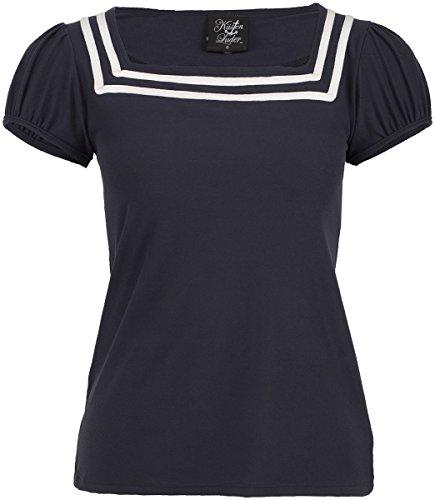 Küstenluder ELADIA Sailor Basic Nautical Vintage Oberteil Shirt Rockabilly