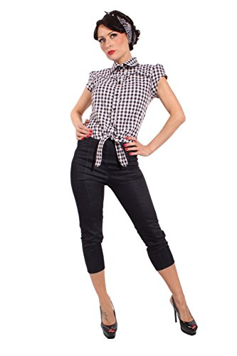 Country Gingham pin up rockabilly Karo Western Binde Bluse