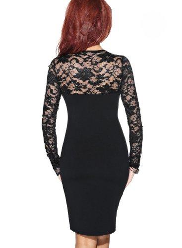 ᐅ Miusol Damen elegant Abendkleid Spitzen V-Ausschnitt ...