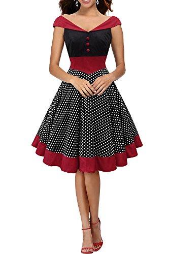 'Sylvia' Vintage Polka-Dots Pin-up-Kleid