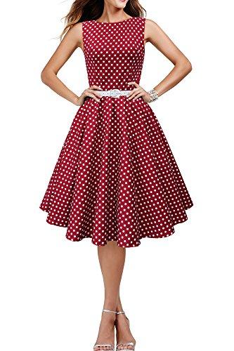 'Audrey' Vintage Polka-Dots Kleid im 50er-Jahre-Stil