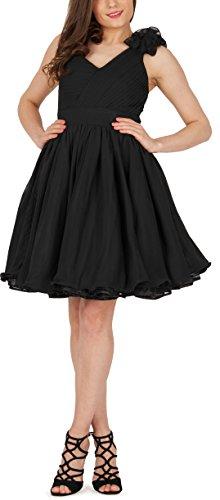 BlackButterfly 'Clarissa' Vintage Clarity Kleid im 50er-Jahre-Stil (Schwarz, EUR 36 - XS)