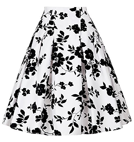 Damen 50s vintage retro rock vintage floral rockabilly swing tellerrock M CL8925-9