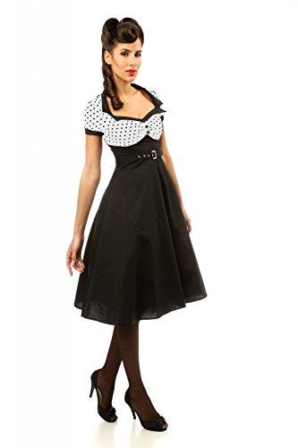 50er Jahre Rockabilly Tupfen Petticoat Kleid mit Gürtel