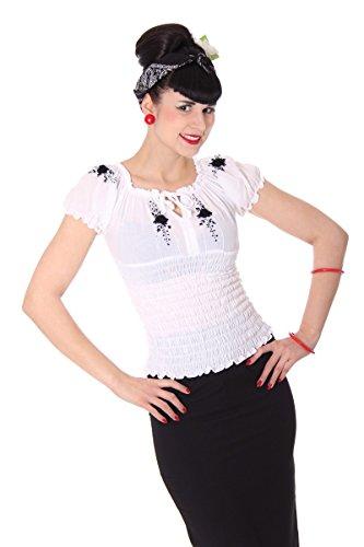 SugarShock Pin Up 40s retro Noelle Gypsy Carmen Blusenshirt Rockabilly Shirt