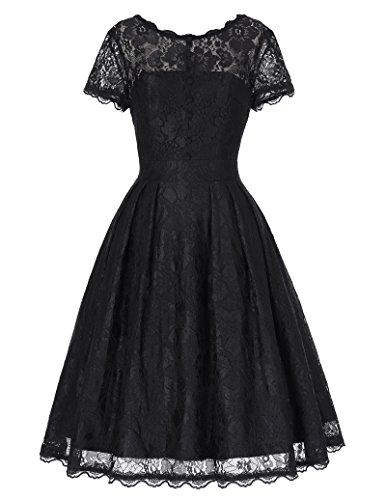 Vintage Retro Petticoat-Kleid Festliche Kleid Lace Kleid