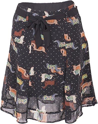 Küstenluder KARY Vintage ROCKING Horse Rauten Chiffon Ruffle Skirt ROCK Rockabi