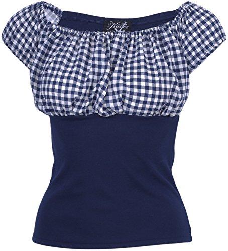 Küstenluder NEELY Gingham 50s Scot Pepita Retro BLUSE Shirt Rockabilly