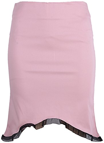 Edler PIN UP Pencil Skirt ROCK mit Ruffle Rockabilly