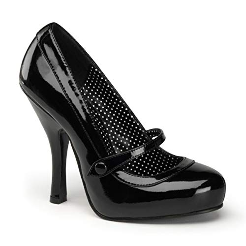Pleaser PinUp Couture CUTIEPIE-02 Damen Pumps, Schwarz (Blk pat), EU 37 (UK 4) (US 7)
