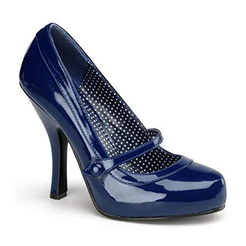 Pin Up Couture CUTIEPIE-02 Damen Pumps, Blau (Navy blue pat), EU 40 (UK 7) (US 10)