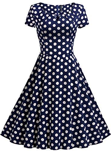 ᐅ MIUSOL 50er Jahre Kleid Vintage Polka Dots Ballkleid ...