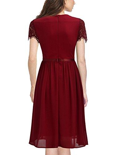 ᐅ Miusol Abendkleid Sommer Chiffon festlich Kleid ...