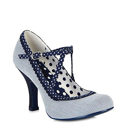 Ruby Shoo  Jessica,  Damen Durchgängies Plateau Sandalen mit Keilabsatz , blau - blau - Größe: 37.5