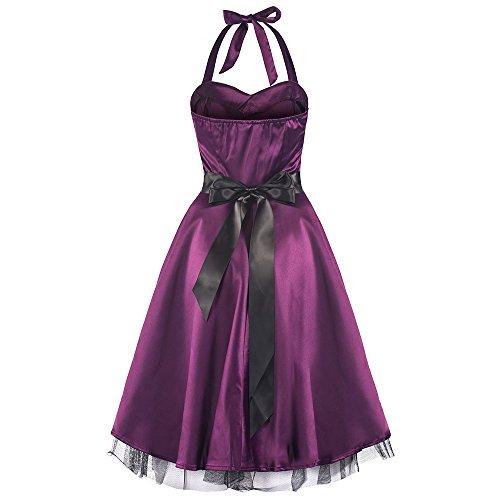 ᐅ Pretty Kitty lila Satin-Swing-Kleid
