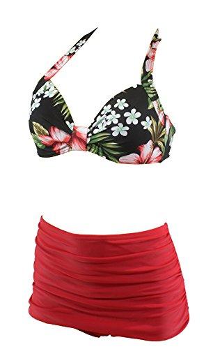 Aloha-Beachwear Damen Bikini A1023 Mehrfarbig Gr. 40