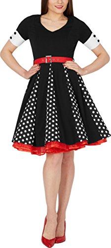 BlackButterfly 'Kelly' Vintage Polka-Dots Swingkleid