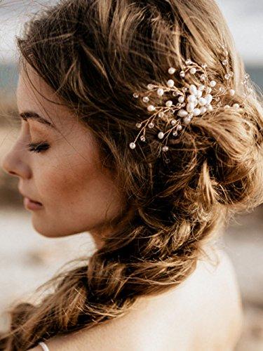 handmadejewelrylady Brautschmuck Damen Hochzeit Party Vintage Kristall Strass Haarkamm Haarschmuck Hochzeit Haarschmuck