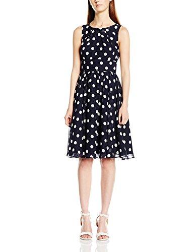 Swing Damen ärmellos Kleid mit Polka Dots, Mehrfarbig
