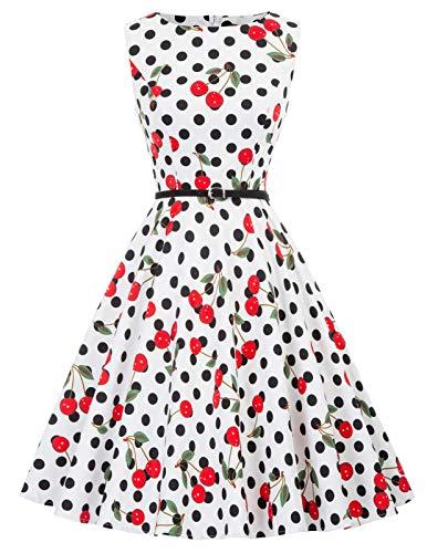 1950er rockabilly kleid ärmellos sommerkleid a linie festliches kleid abschlussballkleid Größe S CL6086-41