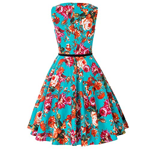 Damen rockabilly kleid 50er jahre kleid festliche kleider vintage knielang partykleider Größe M CL6086-4 - 2