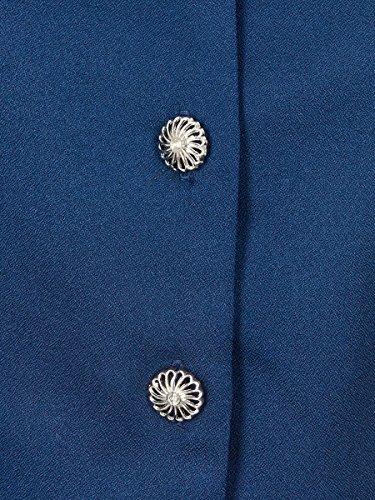 Collectif Damen Bluse Phoebe Peplum Vintage Oberteil Blau XL - 4