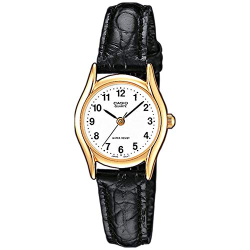 Casio Damen Analog Quarz mit Leder Armbanduhr LTP 1154PQ 7B