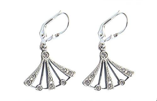 Damen Ohrringe 925 Silber Swarovskikristalle Zwanziger Jahre