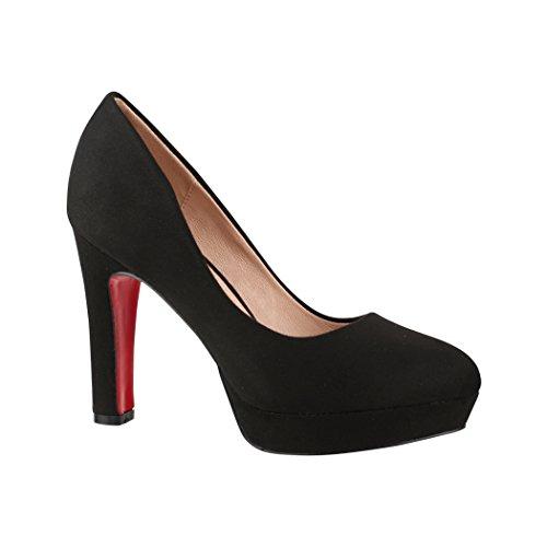 Elara Damen Pumps | Bequeme High Heels | Vintage-Style | Abendschuh Trendy | Chunkyrayan | E22360 Black-37