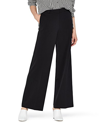 FIND Hose Damen mit Weitem Schlag und Mittelhohem Bund Schwarz (Black), 38 (Herstellergröße: Medium)