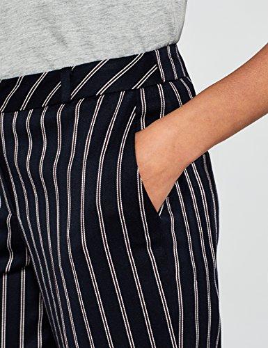 FIND Damen Hose mit Streifen und Weitem Bein, Blau (Navy), 38 (Herstellergröße: S) - 3