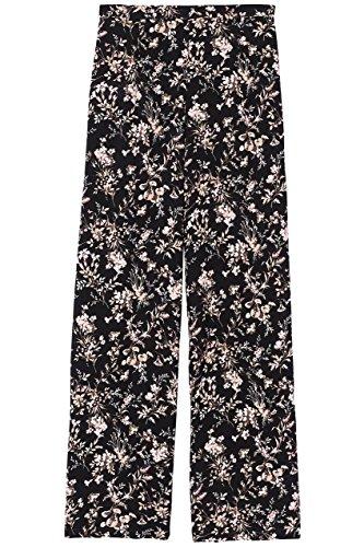 FIND Damen Hose mit Blumenmuster Schwarz (Black Mix), 38 (Herstellergröße: Medium) - 4