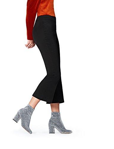 FIND Damen Weite Anzughose mit Schlag Schwarz (Black), 38 (Herstellergröße: Medium)