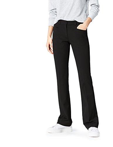 FIND Hose Damen mit Schlag und Schlitztaschen, Schwarz (Black), 40 (Herstellergröße: Large)