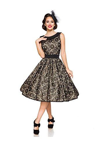 Belsira Damen Vintage-Spitzenkleid im Retro Look M