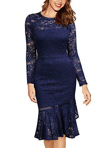 ᐅ Miusol Damen Elegant Spitzen Cocktailkleid Party Kleid ...