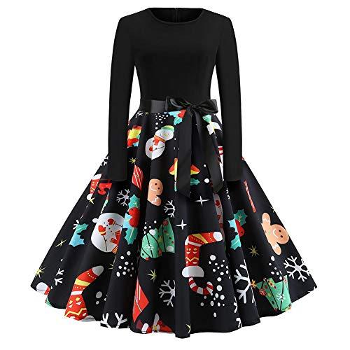 Weihnachtskleid // Rockabilly Kleid mit Schneemann Weihnachtsmann