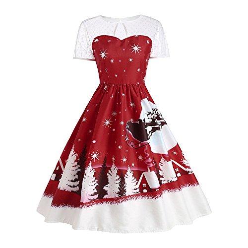 Weihnachtskleid // Elegant Abendkleid Vintage Weihnachten