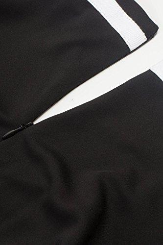 Retro 50er Rockabilly Kleid Petticoat Kleider Retro Kleid Petticoat Faltenrock Kleider Schwaru - 4
