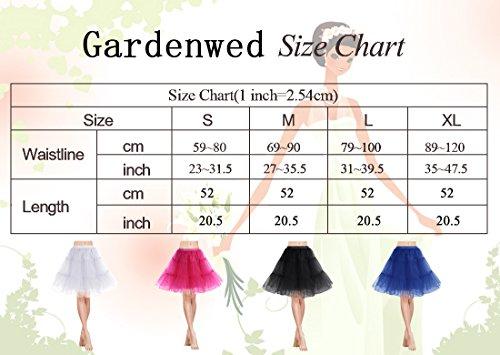 Gardenwed Kurz Damenrock 1950 Petticoat Reifrock Unterrock Tutu Minirock Ballett Tanzkleid Underskirt Crinoline für Rockabilly Kleid Red L - 7