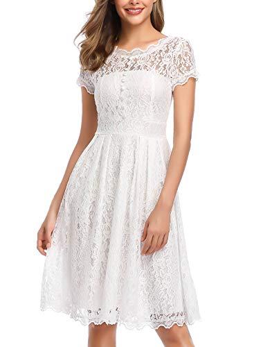 ᐅ ihot Damen Kleid Brautjungfernkleid Knielang ...