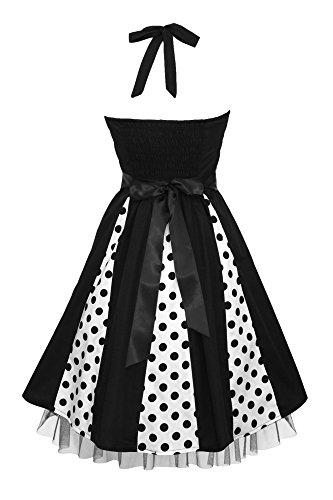 BlackButterfly 'Ivy' 50's Polka-Dots Swingkleid (Schwarze Punkte, EUR 48-3XL) - 2