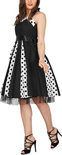 BlackButterfly 'Ivy' 50's Polka-Dots Swingkleid (Schwarze Punkte, EUR 48-3XL) - 6